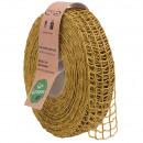 Linen band Nature Alma width 40mm, length 20m, mel